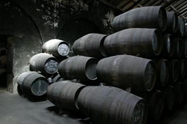 Port pipe barrels in Niepoort's cellars